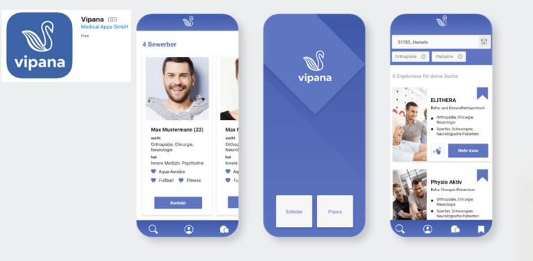 Vipana – per App Praktika anbieten und finden